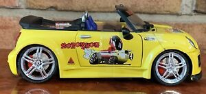 KENTOY Mini Cooper Convertible YELLOW  BOLEY 1:24 SCALE RARE FIND LIGHT UP