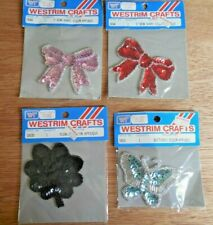 20x double ribbon flower bows wedding sewing appliques crafts decorations B41