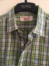 Penguin Green Check Shirt Size M Medium Mens
