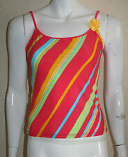 Ted Baker Womens Pink Multi Flamingo Stripe Saffron Tankini Top Size 2 UK 10 New