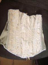 """Beau bustier gainant """"Secret Possession"""" en tissu satiné gris avec dentelle L"""