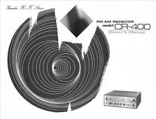 Yamaha CR-400 Receiver Owners Manual