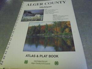 Vintage 1995 Alger County Michigan Atlas & Plat Book