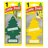 2 x Magic Tree Little Trees Car Air Freshener Scent FOREST FRESH + VANILLORAMA