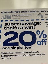 EMAILED: Bed Bath & Beyond, 20% OFF ONE SINGLE ITEM Coupon