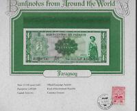 World Banknotes Paraguay 1 Guarani 1952 UNC P 193a prefix A