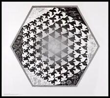 MC Escher Verbum Poster Kunstdruck mit Alu Rahmen in schwarz 55x65cm