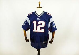NFL New England Patriots Tom Brady 12 Nike On Field Jersey Size 44 Blue Navy