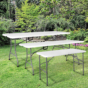 Catering Camping Heavy Duty Folding Trestle Table Picnic BBQ Party 4ft 5ft 6ft