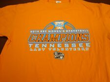 Tennessee Lady Vols 2014 SEC Basketball  Champions Orange T-Shirt  Medium  Y7