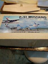 VINTAGE SIG P-51 Mustang MODEL AIRPLANE KIT NO RC-KBRC-6 WS-64''