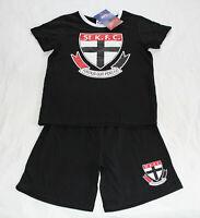 St Kilda Saints AFL AF7634 S18 Boys Youth Printed 2 Piece Pyjama Set Size 8 New