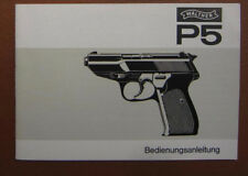 Walther P5 manual , deutsch, print 1978, original , vintage