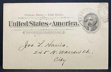Us Postal History card Trenton Council Chamber 1896 GS EE. UU. tarjeta postal (h-7741
