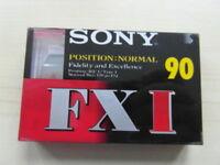 SONY FX I - 90 IEC Type  Blank Audio Cassette Tape FXI FX1 NEW & SEALED