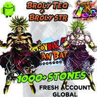 🌟 Dokkan Battle - Broly TEQ LR + Broly STR LR 1000+ Stones - FRESH - Global