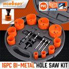 16 PCS Bi-Metal Hole Saw Kit Hole Dozer All Purpose Professional  3/4' to 2-1/2'