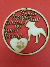 Staffy Staffordshire Bull Terrier Pet Memorial Wooden Dog Sign 3mm Ply