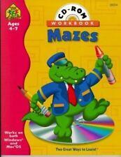 School Lesson plan Maze book CD VERY GOOD Pre 3 4 5 6 7  fine motor reproducible