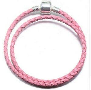 Mixed Colors Woven Double Leather Charm Bracelet Black Blue Pink White Bracelet