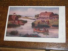 US Postcard Used Chicago IL 1905 Chicago in 1833 Indian Scene