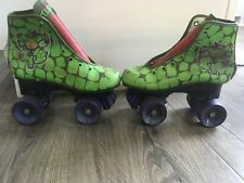 Vintage 1990 Tmnt Teenage Mutant Ninja Turtles Children 13J - Roller Skates Used