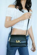 NWT MICHAEL KORS MONTGOMERY SMALL MINI LEATHER CROSSBODY BAG BLACK