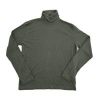 ZARA Women's Green Long Sleeve Wool Blend Turtleneck Top Sweater   Large