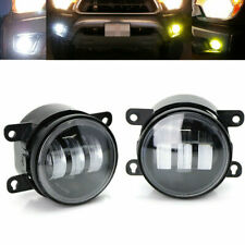White Yellow Dual Color LED Fog Light Kit 20W High Power For Honda Nissan Subaru