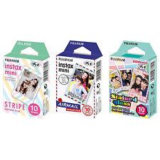 Stripe & Airmail & Stained Glass FujiFilm Instax Mini Film Polaroid 30 Photos