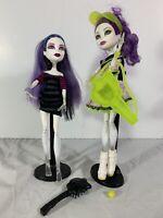 Monster High Lot of 2 Dolls Spectra Vondergeist High Ghoul Sports w/ Stands