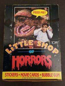 Little Shop Of Horrors trading card / sticker box 36 unopened packs Topps 1986