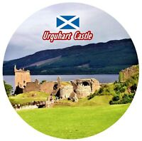 URQUHART CASTLE, LOCH NESS SCOTLAND - ROUND SOUVENIR FRIDGE MAGNET - GIFTS NEW