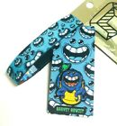 ZOX **HARVEY HOWZIT** Silver Single Med MONSTER Wristband w/Card & Pin