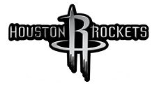Houston Rockets RICO CE Silver Chrome Color Raised Auto Emblem Decal Basketball