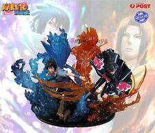 Uchiha Sasuke Itachi Susanoo Figure Naruto Sharingan Kabuto Ninja War Statue PVC
