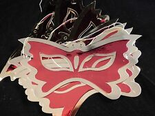 Cheap / Bargain Kids Metallic Red and Gold Butterfly Masks x Set of 8 Party