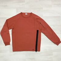 CP COMPANY Crew Neck Zipped Garment Dyed Sweatshirt Col. Pureed Pampkin RRP225€