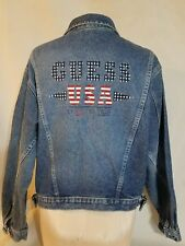 Vintage GUESS by Georges Marciano Made USA  Denim Jean Jacket 90's Sz med  #a8