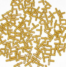 LEGO LOT OF 100 NEW PEARL GOLD T-BAR PNEUMATIC PIECES