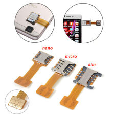 TF Hybrid Sim Slot Dual SIM Card Adapter Micro SD Extender Android Phone Useful