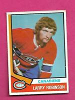 1974-75 OPC # 280 CANADIENS LARRY ROBINSON 2ND YEAR EX+ CARD (INV# D2672)