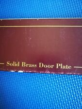 New Oval Shaped Solid Brass Door Plate G & D Spain for engraving or  push plate
