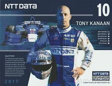 2017 Tony Kanaan NTT Data Honda Dallara Indy Car postcard