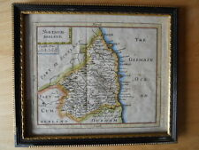 A small framed Map of Northumberland by John Seller, c. 1695 , published c. 1783