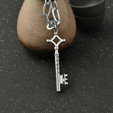 """Silver""""Attack on Titan"""" Mystery Keys Anime Pendant Chain Necklace Unisex Cosplay"""