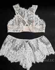 Victoria's Secret Dream Angels Floral Lace High neck Bralette Boho Shorts Set L