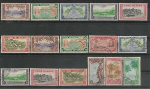 COOK ISLANDS 1937-49 Collection good mint & used.