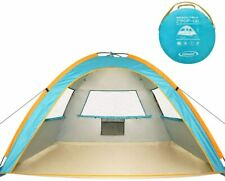 Tent Camping 3 Person 2 Second Pop Up Instant Set Up Beach SPF 50+ UV Protection