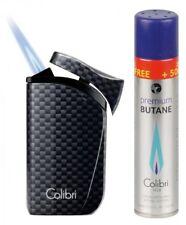 Colibri Falcon 2 Carbondesign schwarz Feuerzeug 1 Jetflamme -gas